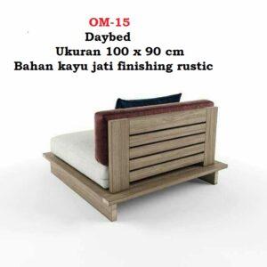 Daybed Ukuran 100 x 90 cm Bahan kayu jati finishing rustic