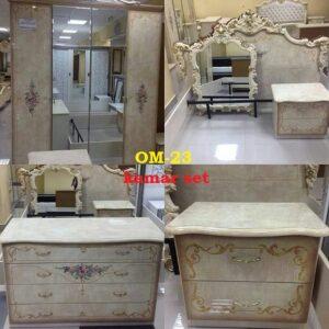 kamar set bahan kayu atau mahoni finishing gold