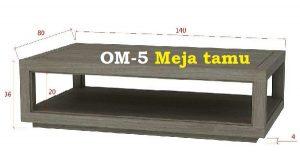 OM-5 Meja Tamu daftar harga mebel jepara