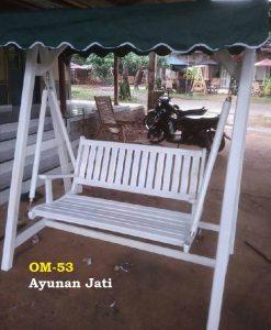 Ayunan Jati ukuran 120 cm.  Cocok untuk teras dan taman