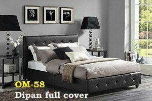 Dipan full cover.  Rangka kayu mahoni dan kain kualitas eskport
